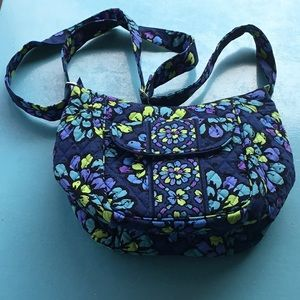 Vera Bradley small saddle bag/crossbody, like new.